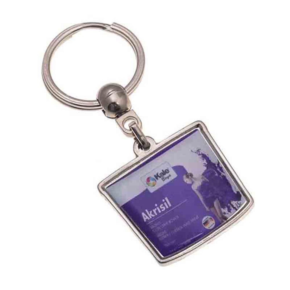 Damla anahtarlık üretimi DM1806, İstanbul logo baskılı toptan metal anahtarlık imalatı ürün resmi