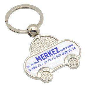 Damla anahtarlık üretimi DM1850, İstanbul logo baskılı toptan metal anahtarlık imalatı ürün resmi