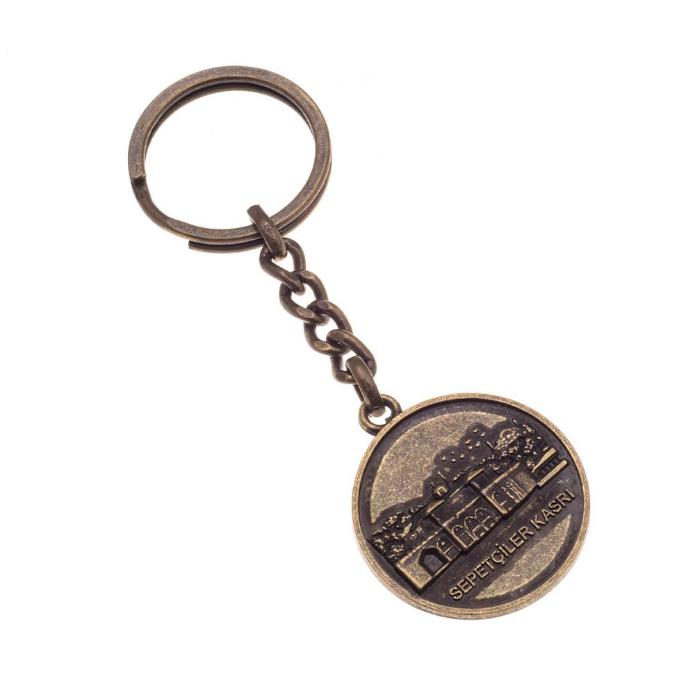 Eskitme anahtarlık üretimi ES1802, İstanbul zamak döküm logo baskılı antik anahtarlık imalatı ürün resmi