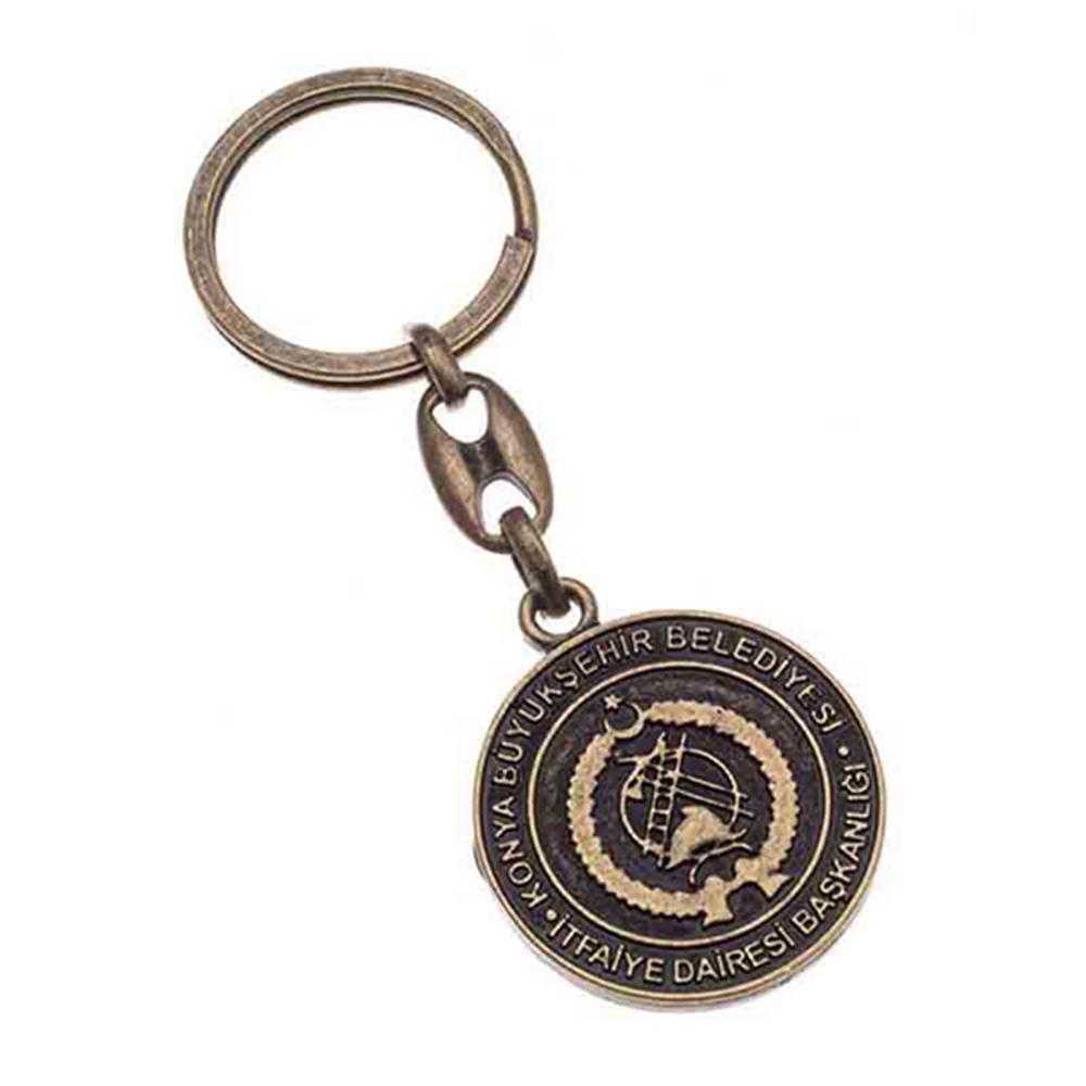 Eskitme anahtarlık üretimi ES1812, İstanbul zamak döküm logo baskılı antik anahtarlık imalatı ürün resmi