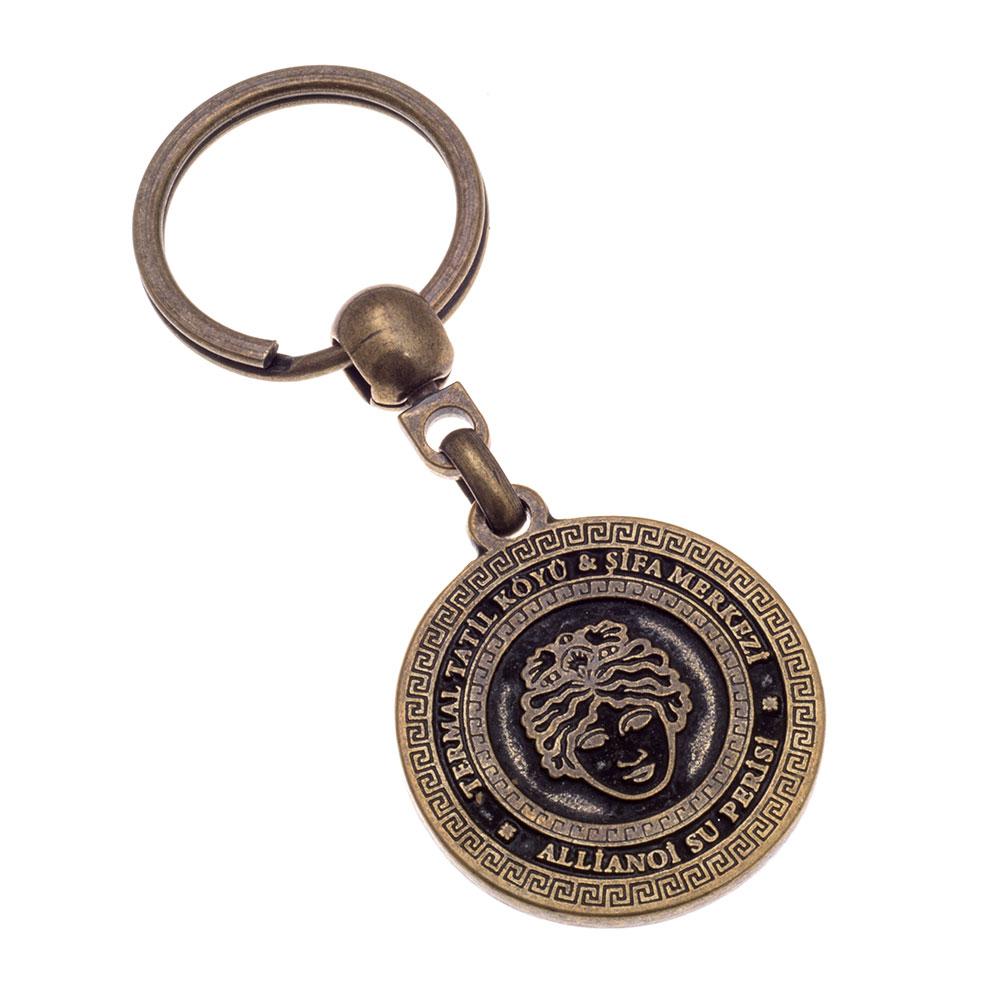 Eskitme anahtarlık üretimi ES1817, İstanbul zamak döküm logo baskılı antik anahtarlık imalatı ürün resmi