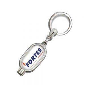 Purjör anahtarlık üretimi PR1808, İstanbul logo baskılı toptan metal anahtarlık imalatı ürün resmi