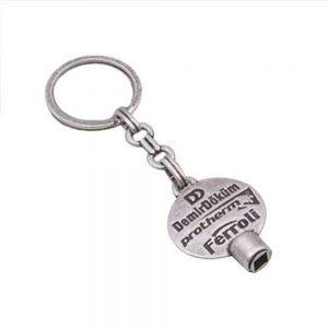 Purjör anahtarlık üretimi PR1802, İstanbul logo baskılı toptan metal anahtarlık imalatı ürün resmi