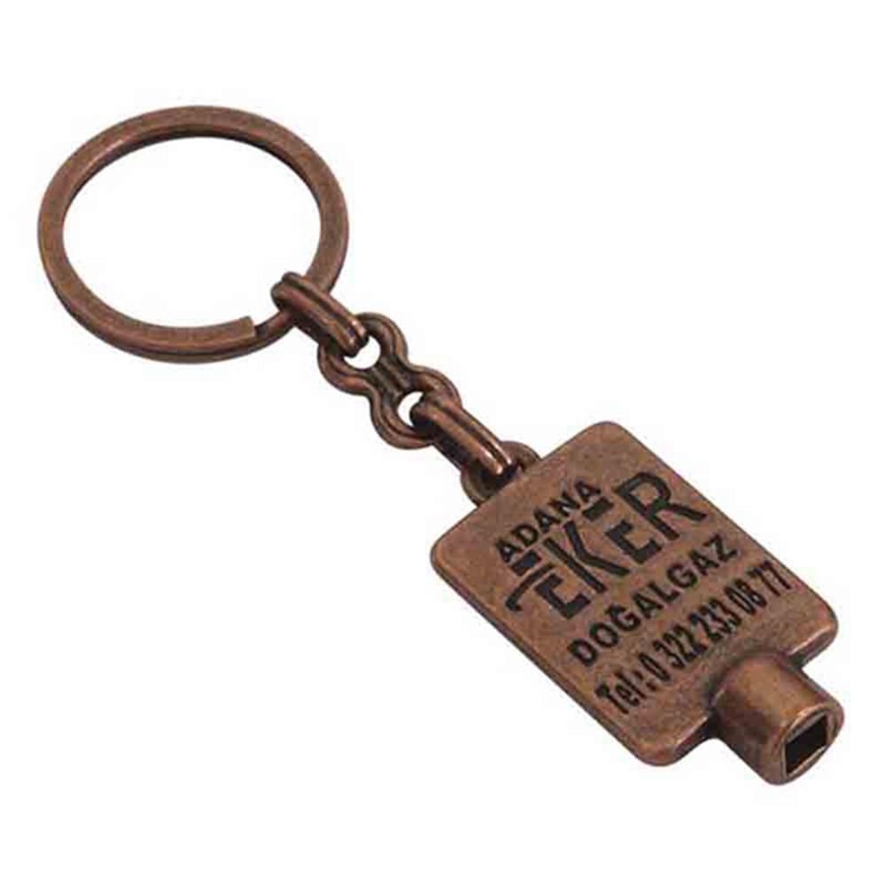 Purjör anahtarlık üretimi PR1809, İstanbul logo baskılı toptan metal anahtarlık imalatı ürün resmi