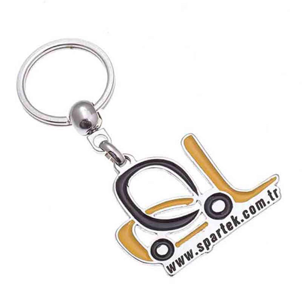Mineli anahtarlık üretimi MN1806, İstanbul logo baskılı toptan metal anahtarlık imalatı ürün resmi