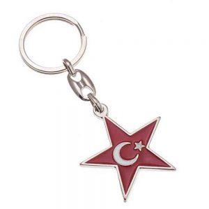 Mineli anahtarlık üretimi MN1816, İstanbul logo baskılı toptan metal anahtarlık imalatı ürün resmi