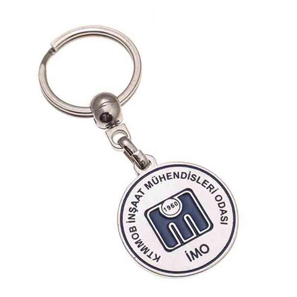 Mineli anahtarlık üretimi MN1823, İstanbul logo baskılı toptan metal anahtarlık imalatı ürün resmi