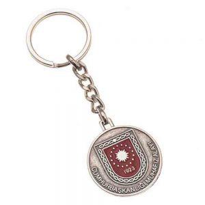 Mineli anahtarlık üretimi MN1830, İstanbul logo baskılı toptan metal anahtarlık imalatı ürün resmi